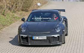 2017 porsche 911 gt3 rs gets bigger 4 2l flat six may get a