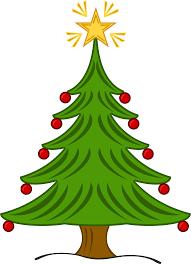 fancy christmas trees clip art 48