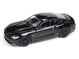 Mustang Black Rims Auto World 2017 Ford Mustang Gt Gloss Black With Black Rims 1 64