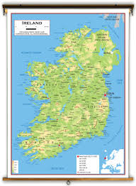 Europe Map Physical by Ireland Physical Educational Wall Map From Academia Maps