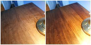 Hardwood Floor Scratches - desk before and afterbuff wood floor scratches buff recoat