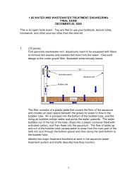 final exam sewage treatment water management