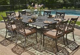 Black Cast Aluminum Patio Furniture Amazing Cast Aluminum Patio Set With Black Dining Table Furniture