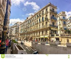 french colonial side of the city of algiers algeria modern city
