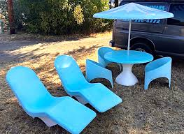 Antique Patio Chairs Vintage Fibrella U201cle Barron U201d Pool And Patio Furniture Mid
