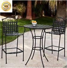 High Bistro Table Set Outdoor Bar Height Bistro Set Ebay