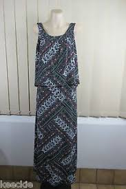 nwt size m 12 ishka ladies halter maxi dress casual boho chic