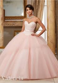 light pink quince dresses quinceanera dress 60003 beaded lace bodice with flounced tulle