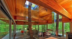 wood interior homes creative homes built around trees