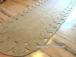 Jute Runner Rug Hallway Rug 9 Foot Rug Twine Crochet Rug Runner Rug Jute