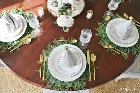 christmas dinner table setting christmas dinner tablesetting ideas sand and sisal