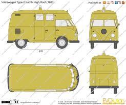 the blueprints com vector drawing volkswagen type 2 kombi high