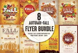 fall flyer fall festival thanksgiving flyer template fall