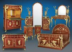 egyptian king farouk empire bedroom suite from a unique