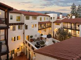 showy spanish revival apartments open in pasadena renting from aerial view of courtyards