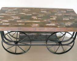 Vintage Coffee Table With Wheels Coffee Table Wheels Etsy