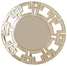 Circle Wall Mirrors Pierre Gold Round Wall Mirror Contemporary Wall Mirrors By