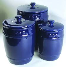 blue kitchen canister set american living general store navy blue at replacements ltd