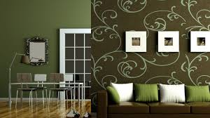 Green Colored Rooms Decoration Living Room Green
