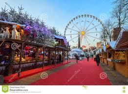 brussels belgium december 05 2016 market in the