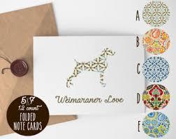 weimaraner cards etsy