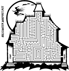 printable halloween maze coloring pages coloring halloween