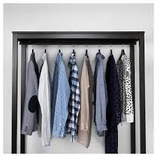 hemnes open wardrobe black brown 120x197x50 cm ikea