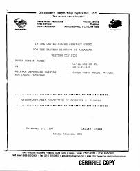 United Process Service Legal Documents The Gennifer Flowers Deposition March 16 1998