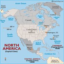 map of america with country names usa map and capital cities america map with country names