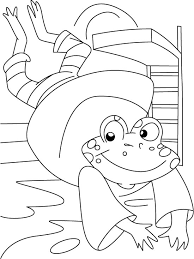 frog diving coloring download free frog diving coloring