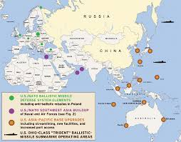 China On The Map by Strategic Maps Anglo American Encirclement Of Russia And China