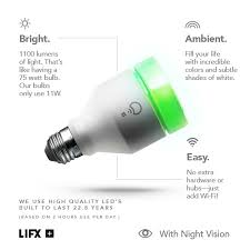 lifx lifx infrared 75w equivalent br30 multi color dimmable wi