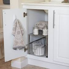 kitchen cabinet pull out storage racks shop for household essentials silver free standing pull out