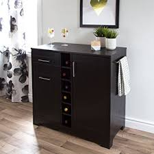 Black Bar Cabinet South Shore Vietti Bar Cabinet With Bottle And Glass