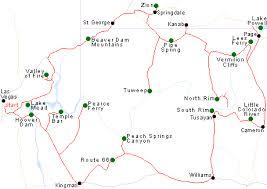 map las vegas and grand southwest usa itineraries grand