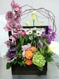 modern spring flower box