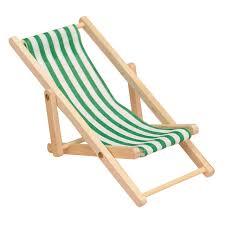 green 1pc cute mini foldable wooden deck beach chair couch