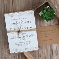layered wedding invitations country wedding invitations