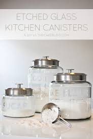 glass kitchen canisters diy revitalize your kitchen canisters