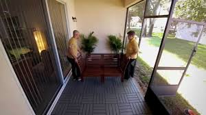 Ikea Teak Patio Furniture - diy patio project laying outdoor deck tiles u2013 ikea home tour