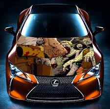 lexus laminates philippines walking dead zombies car wrap hood bonnet graphics vinyl sticker