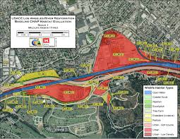 Los Angeles River Map by File Usace Los Angeles River Restoration Baseline Chap Habitat
