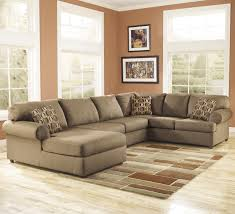 Ashley Furniture Living Room Set Sale by Cowan Mocha Roll Arm Left Facing Corner Chaise Sectional By