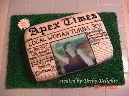 newspaper 30th birthday cake cakecentral com