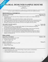 Designer Resume Examples by Floral Designer Resume Florist Resumecompanion Com Resume