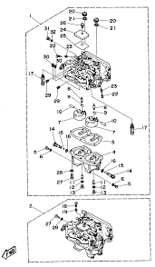 yamaha carburetor diagram yamaha 50 hp outboard carburetor