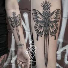 butterfly dagger tattoos dagger