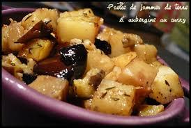 cuisiner aubergine a la poele poêlée de pommes de terre et aubergine au curry mes petits délices