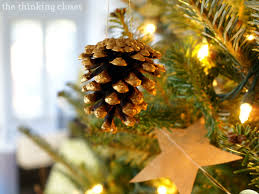 gold brushed pine cone ornaments with myfavoritebloggers the