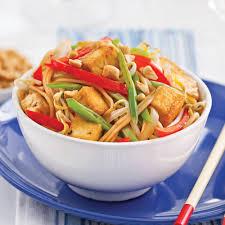cuisine végé pad thaï végé et allégé recettes cuisine et nutrition pratico